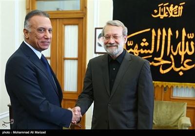 دیدار رئیس سرویس اطلاعات عراق با علی لاریجانی