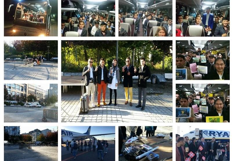 حضور افغانها از سراسر اروپا برای آغاز تظاهرات مقابل کنفرانس بروکسل + فیلم و عکس