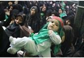 مراسم آئینی شیرخوارگان حسینی در کاشان برگزار شد+تصاویر