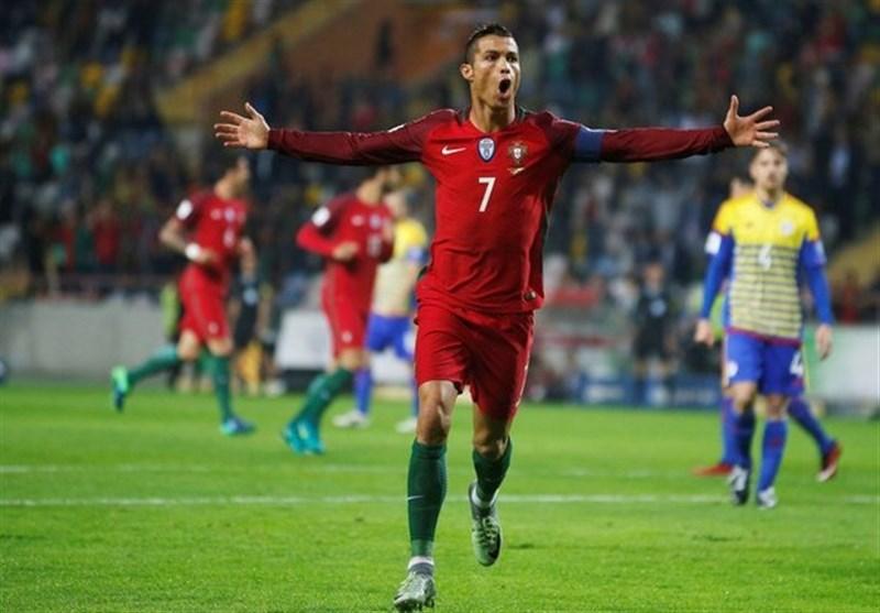 """""""البرتغال"""" یمطر شباک """"اندورا"""" بست اهداف نظیفة"""