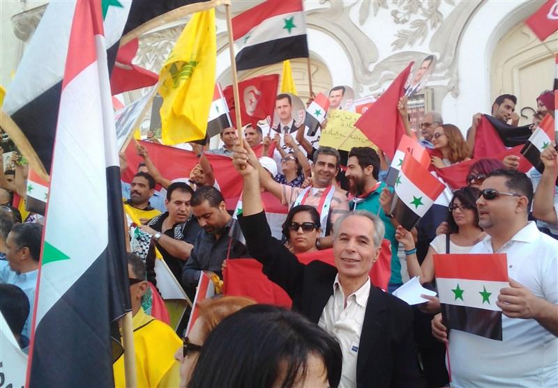أحزاب تونسیة تتظاهر دعماً لسوریا والمقاومة