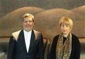برسلز میں شام اور یمن سے متعلق جابری انصاری کی ہیلگا شمد کے ساتھ مشاورت