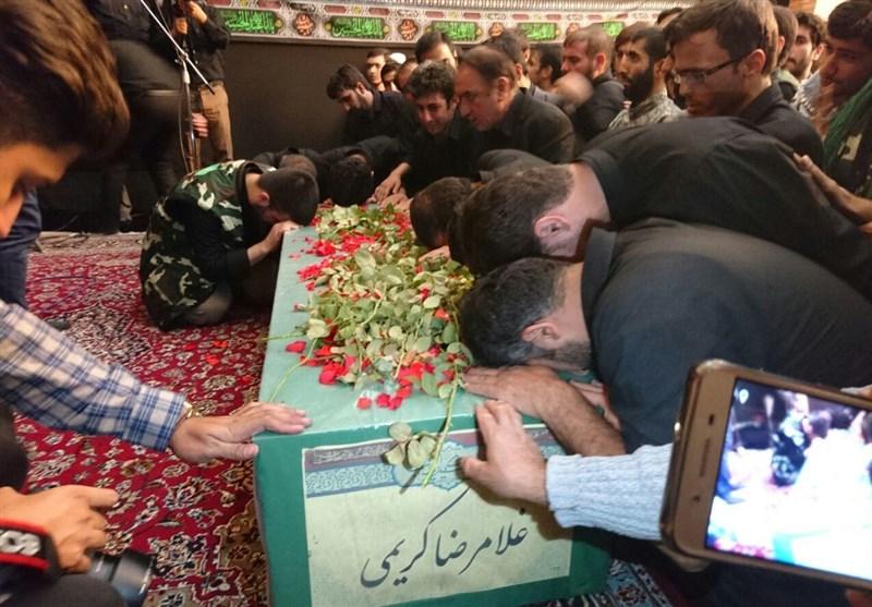 مراسم تشییع پیکر شهید مدافع حرم لشکر فاطمیون برگزار شد+ عکس