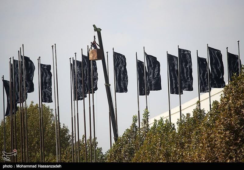 آماده سازی ورزشگاه آزادی قبل از بازی تیم های ایران و کره جنوبی
