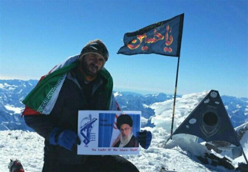 عشق به امام حسین(ع) لحظات سخت و طاقت فرسای صعود را برایم آسان کرد/داعش برای بریدن سرم جایزه تعیین کرده است