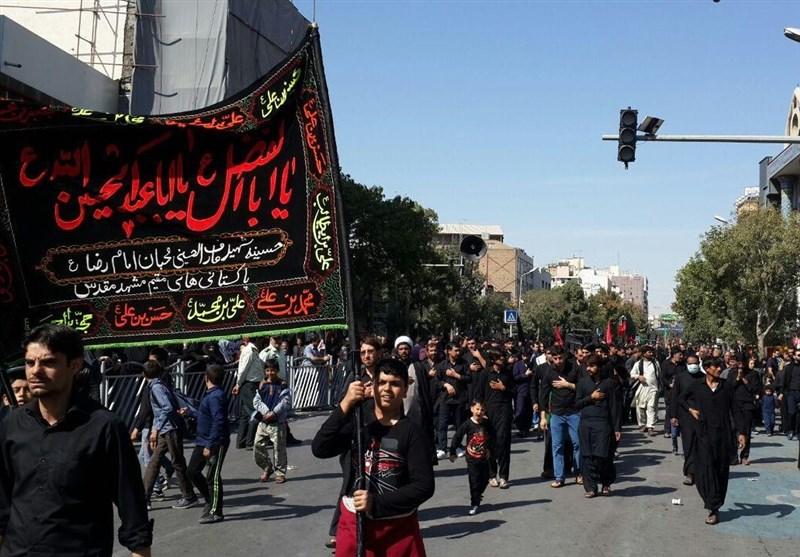 ایران کے شہر مشہد مقدس میں پاکستانیوں کا جلوس/ تصویری رپورٹ