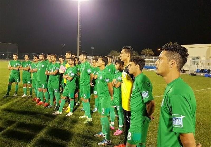 تمرین تیم فوتبال جوانان در بحرین