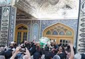 پیکر شهید مایلی در امامزاده حسن(ع) تشییع و به خاک سپرده شد + گزارش تصویری