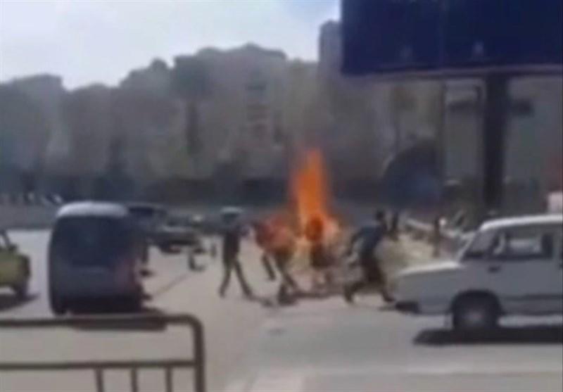 """شاب مصری یضرم النار بنفسه بسبب """"غلاء الأسعار"""""""