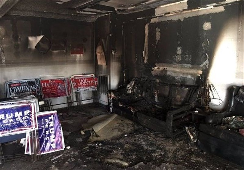 Democrats raise money to help firebombed Republican office