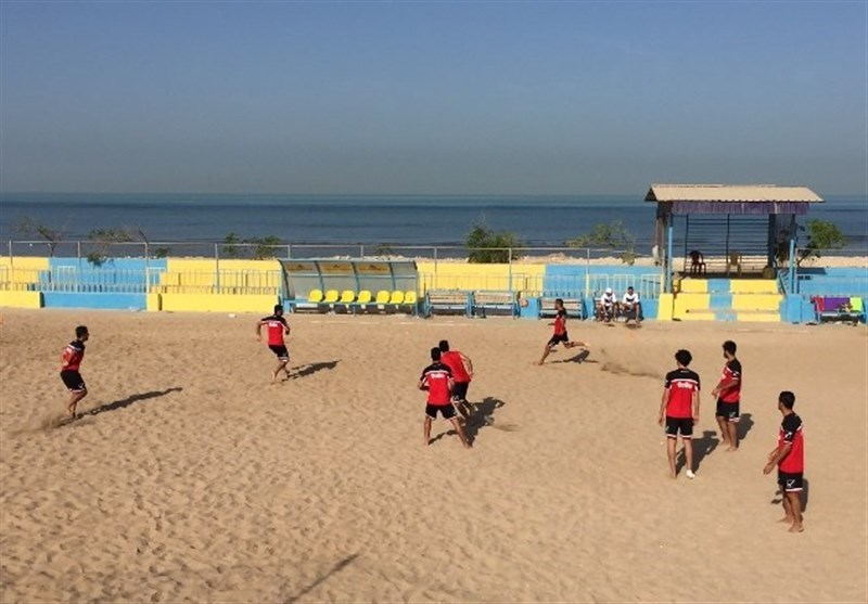 تمرین تیم ملی فوتبال ساحلی