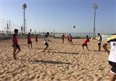 برگزاری تمرین ملیپوشان فوتبال ساحلی