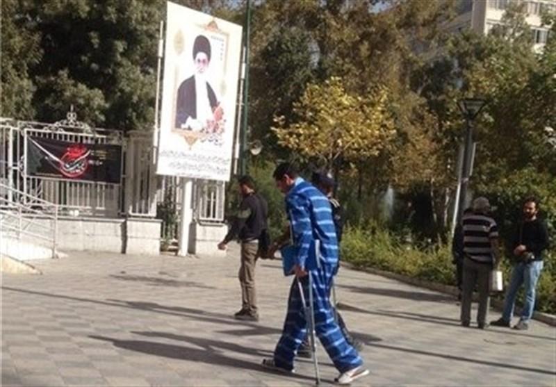 پای همسر مهناز افشار در والیبال زندان شکست