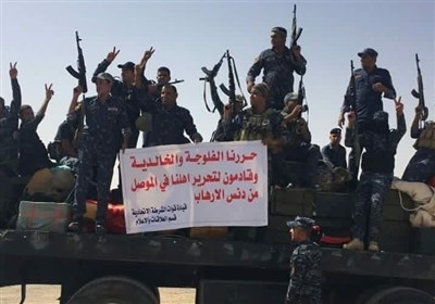 هاربون من الموصل یشکون للشرطة الاتحادیة الجوع والعطش