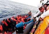 نجات پناهجویان در مدیترانه