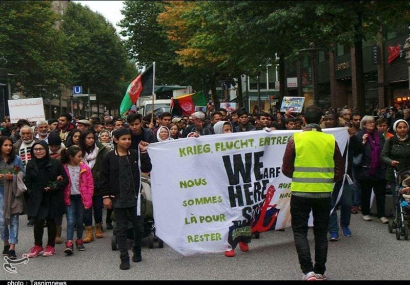 تظاهرات پناهجویان افغان در آلمان7