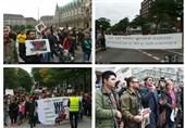 اعتراض پناهجویان افغان در آلمان