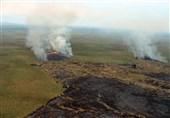 آتش سوزی تالاب