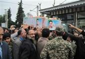 """پیکر شهید """"قویدل"""" در زادگاهش به خاک سپرده شد+ تصاویر"""