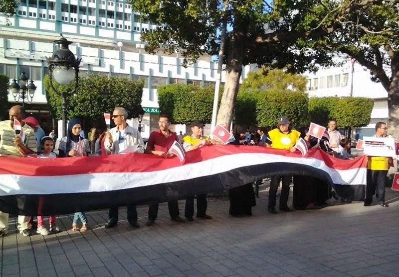 تظاهرات تونسی ها در حمایت از یمن