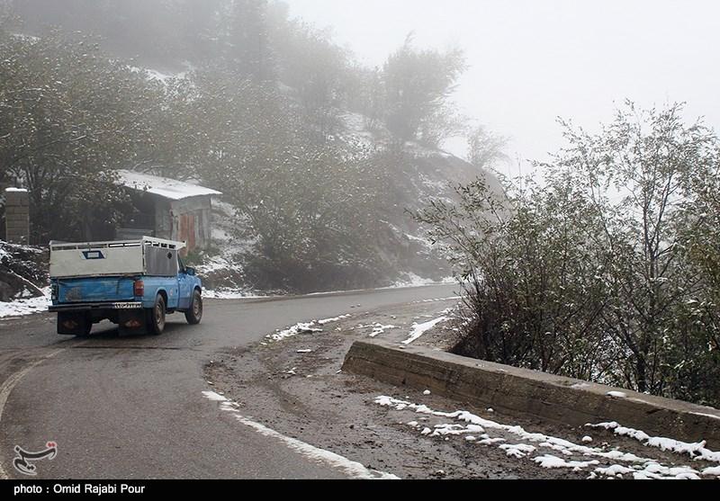20 فقره تصادف در پی بارش برف در اردبیل به وقوع پیوست