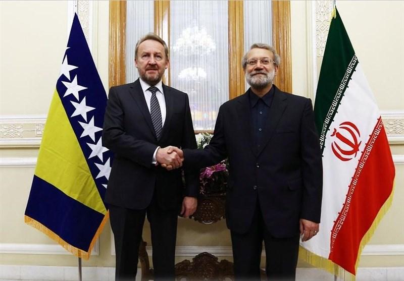 İran Meclis Başkanı ve Bakir İzzetbegoviç Görüşmesi