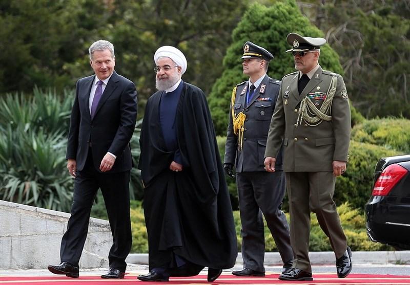 استقبال رسمی روحانی از رئیسجمهور فنلاند