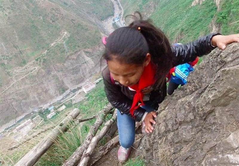 خطرناکترین مسیر مدرسه جهان امن میشود + عکس