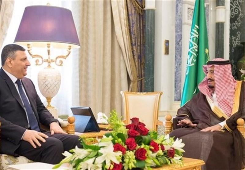 دیدار هماهنگ کننده معارضان خارجنشین سوریه با شاه سعودی