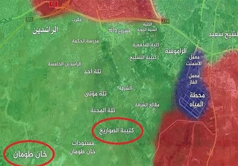 نقشه حلب شرق