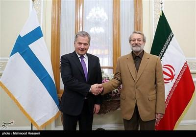 دیدار رئیس جمهور فنلاند با رئیس مجلس