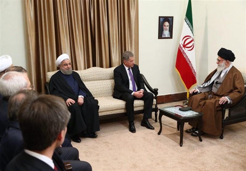 رئیسجمهور فنلاند با امام خامنهای دیدار کرد