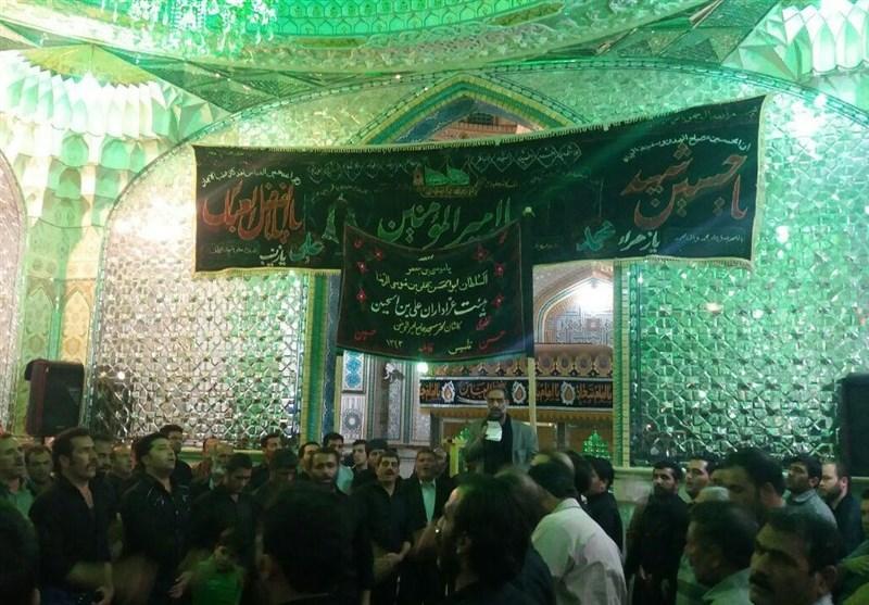 مردم کاشان در عزای چهارمین امام شیعیان به سوگ نشستند+تصاویر