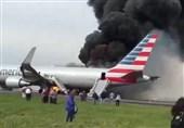 آتش گرفتن هواپیما