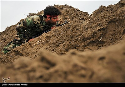 Basij Forces Stage Drills in Northern Iran