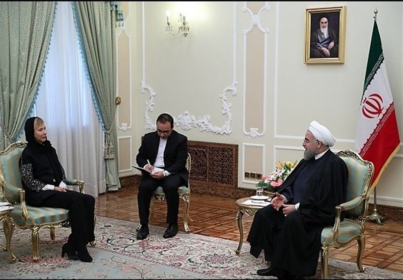 President Rouhani Meets New European Envoys in Tehran