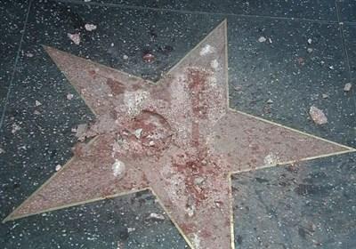 تخریب ستاره یادبود ترامپ در بولوار هالیوود