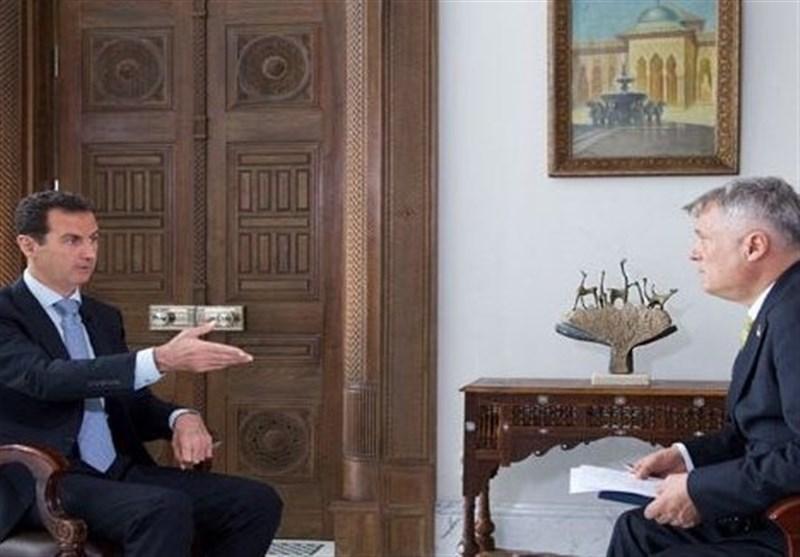 بشار اسد: آمریکا مسئول شکست آتش بس اخیر در سوریه است/ واشنگتن از داعش حمایت کرده و از آن برای تغییر موازنه قوا استفاده میکند