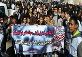 13آبان کی مناسبت سے ایرانی اور افغانی طلاب کی شاندارریلی/تصویری رپورٹ