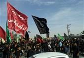خوزستان|حرکت بزرگترین کاروان پیادهروی اربعین بندرماهشهر آغاز شد