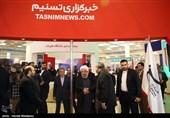 الرئیس روحانی یزور جناح وکالة تسنیم فی معرض الصحافة