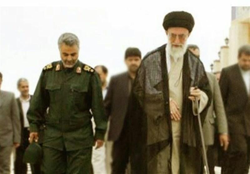 رهبر معظم انقلاب و سردار سلیمانی