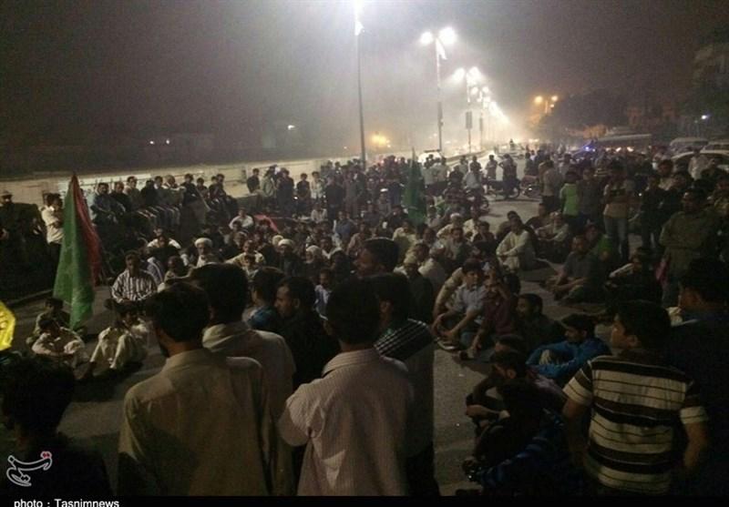 کراچی؛ شیعہ جماعتوں کا عمائدین کی بلاجواز گرفتاری پر دھرنا جاری/ تصویری رپورٹ