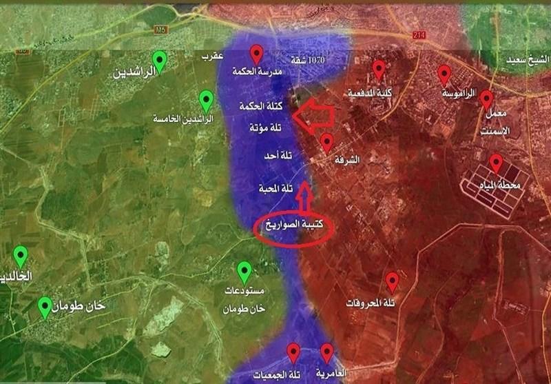 قوات الجیش السوری والمقاومة تباغت الجماعات الإرهابیة جنوب حلب