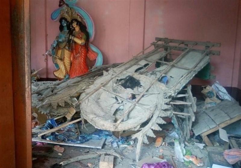 بنگلہ دیش میں مشتعل افراد کی جانب سے ہندوؤں کے گھر اور مندر جلانے کا سلسلہ جاری