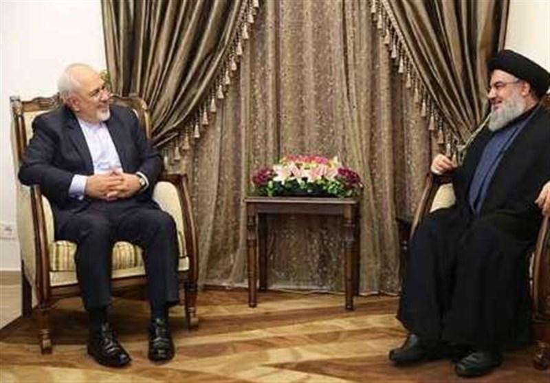 ایرانی وزیر خارجہ کی حسن نصر اللہ سے ملاقات/ تصویری رپورٹ