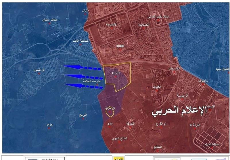سیطرة الجیش السوری وحلفائه على مشروع 1070 بالفیدیو