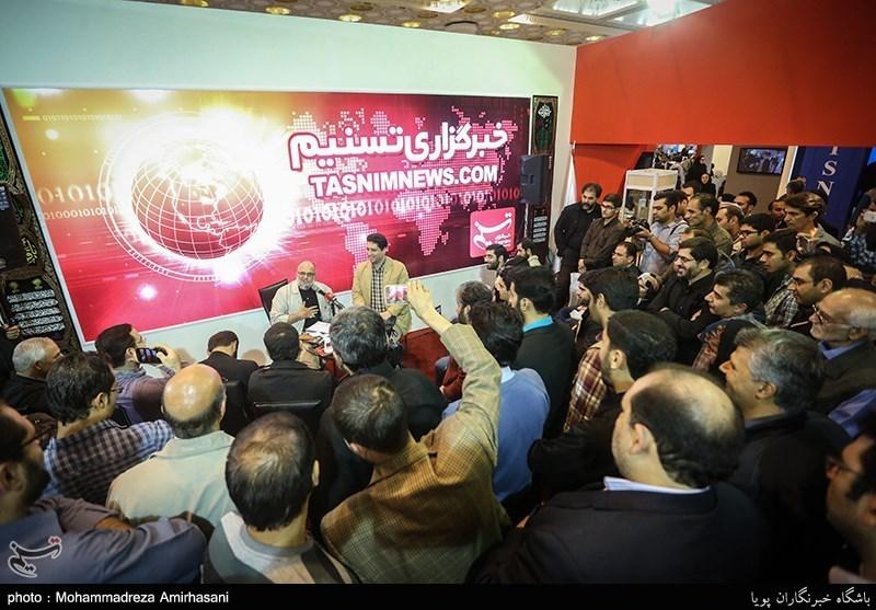 گزارش تصویری / نشستهای برگزار شده در غرفه تسنیم در پنجمین روز نمایشگاه مطبوعات