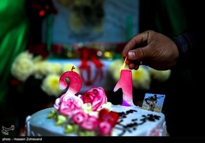 جشن تولد جوان ترین شهید مدافع حرم ایرانی سید مصطفی موسوی