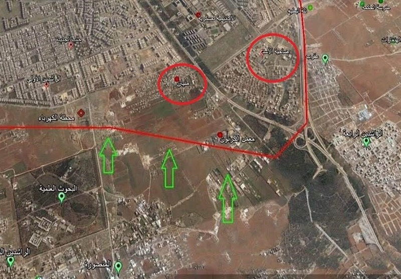 """القوات السوریة تحرر أجزاء واسعة من بلدة """"منیان"""" غرب حلب"""